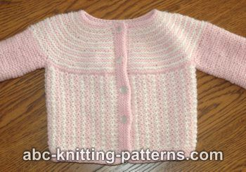 Round Yoke Top Down Seamless Baby Cardigan: Baby Cardigans, Free Pattern, Baby Patterns, Lace Knitting Patterns, Cardigan Allfreeknitting