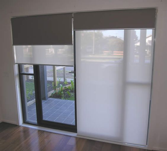 Double roller blinds holland blinds online dual roller - Curtains for sliding glass doors in bedroom ...