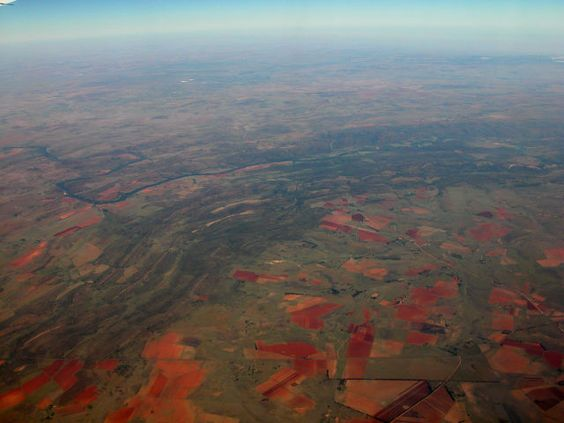 Vredefort crater (South Africa) - the largest crater in the World (diameter of roughly 300km (190mi))