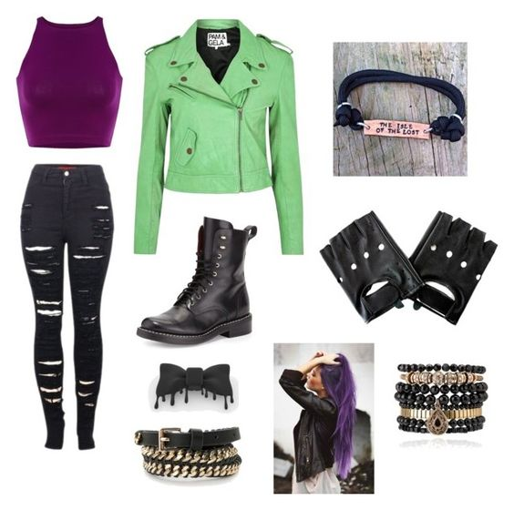"""Mal from Descendants"" by pastel-bunny on Polyvore"