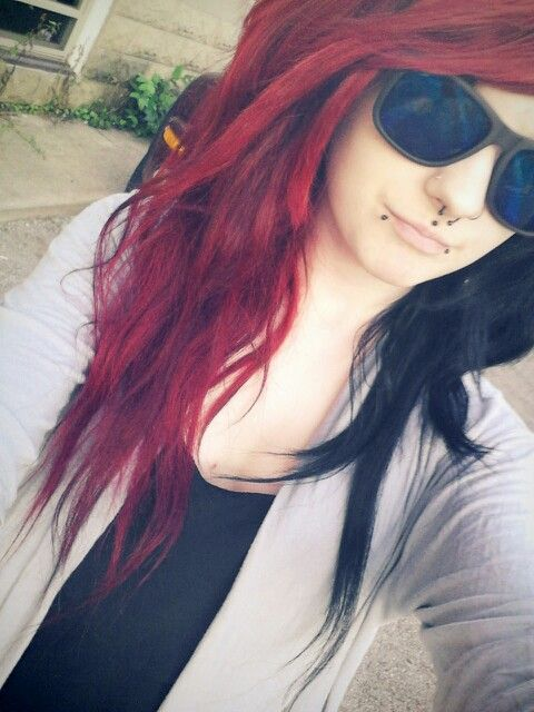 Red and black hair | Beautiful hair! | Pinterest | Scene ...
