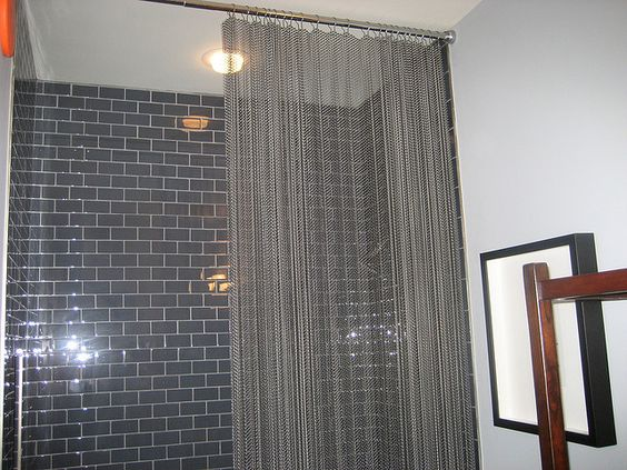 Curtains Ideas chain mail curtains : Chainmail Shower Curtain | Details | Pinterest | Photos, Shower ...