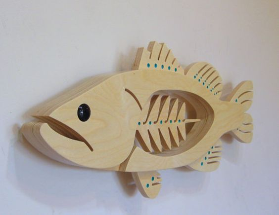 Items similar to Largemouth Bass Sculpture on Etsy