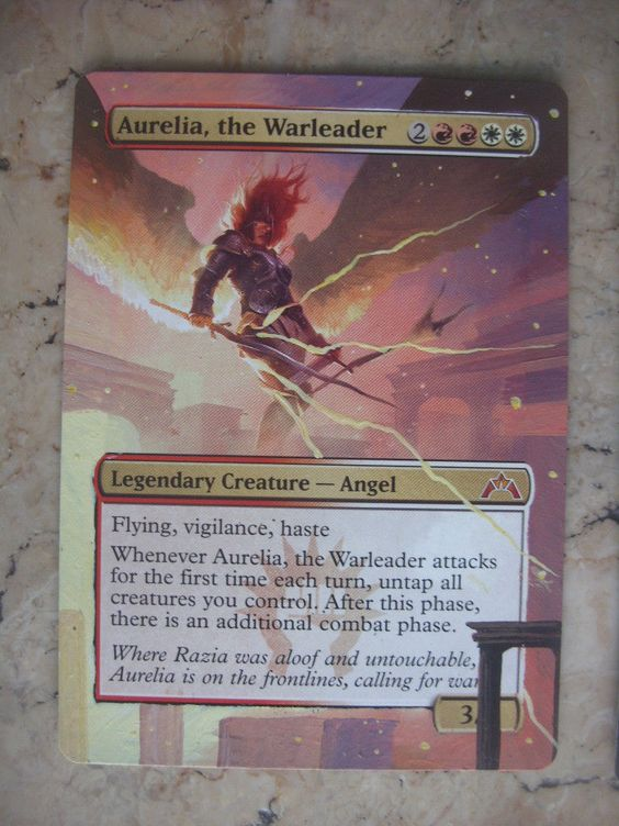 Mtg magic AURELIA, THE WARLEADER ALTERED EXTENDED ART CARD ...