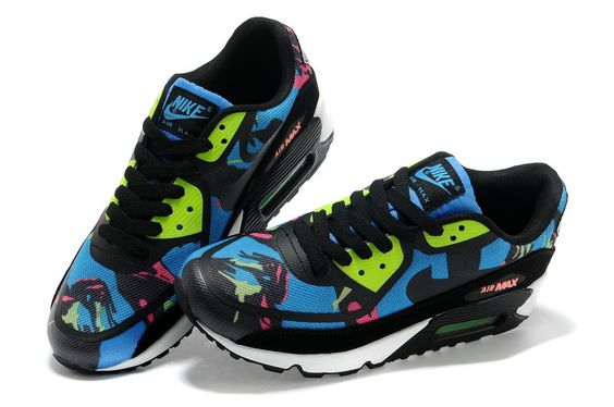 b83ce56ddd4d1 Nike Air Max 90 Womens 3M Reflective Black Tiger Black Silver Shoes world  ...
