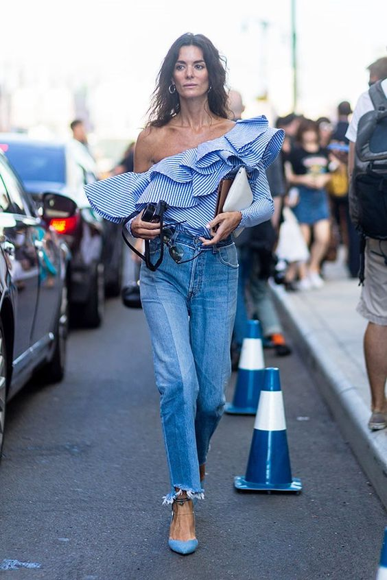 Image result for ruffles street style 2017 spring