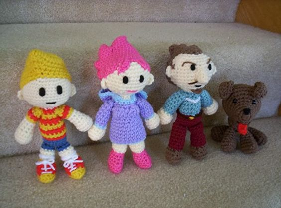 Basic Character Doll Amigurumi Crochet Pattern : Mother 3 / Earthbound 2 amigurumi... now with free Basic ...