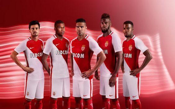Nouveau Maillot AS Monaco pas cher 2016 2017: