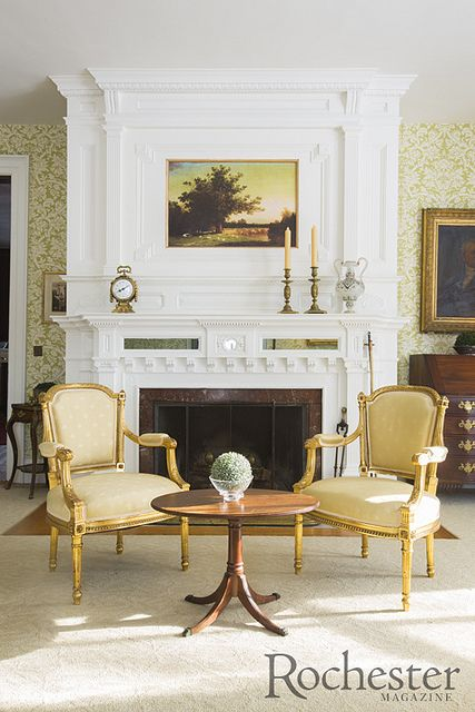 The drawing room at the Wadsworth Homestead by Rochester Magazine, via Flickr www.RochMagazine.com