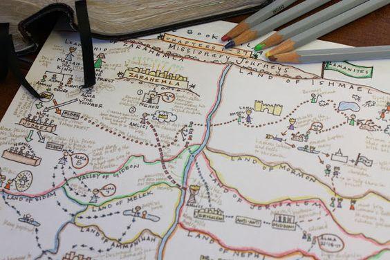Libro de Mormón mapa estudio - Alma 1-27   La Red Headed Anfitriona