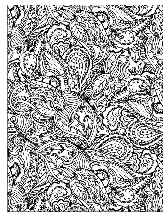 Beautiful Coloring And Coloring Books On Pinterest Detailed Pattern Coloring Pages