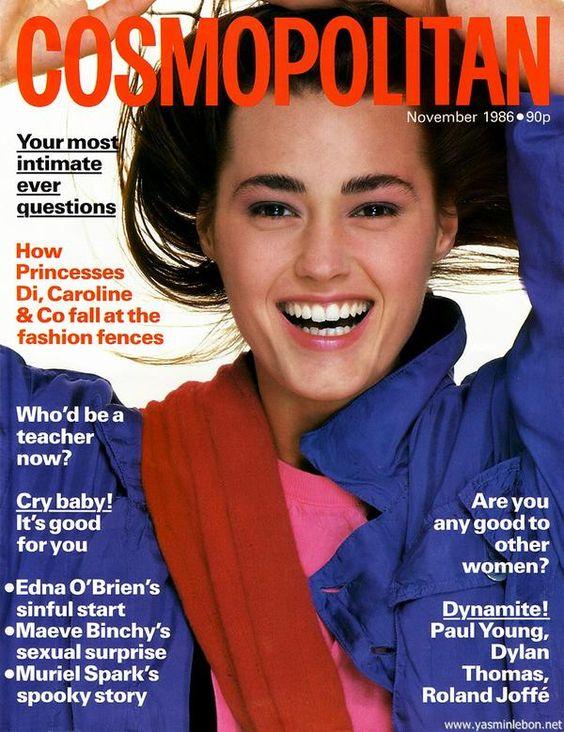 Cosmopolitan France cover with Yasmin Le Bon - November 1986