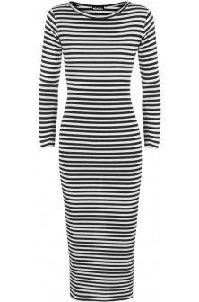 Anna Striped Knit Midi Dress