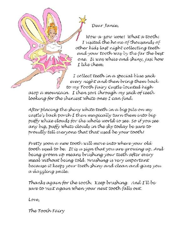 tooth fairy letter tooth letters tooth and letter sample on 13835 | 705334c0774c7e039670f1c7c06c7a80