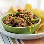 Mexican Tortilla Skillet Recipe- looks like a good inexpensive weeknight dinner!