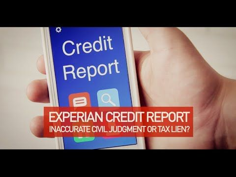 Experian Public Record Settlement Warning Consumer Class Action