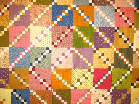 Double Four Patch by http://quiltingstories.blogspot.com/2015/02/back-to-design-board-double-four-patch.html