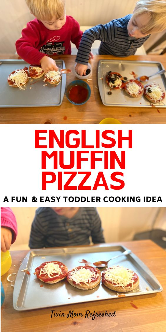 English Muffin Pizza Toddler Recipe - Twin Mom Refreshed