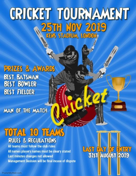Cricket Tournament World Cup Poster Cricket Poster