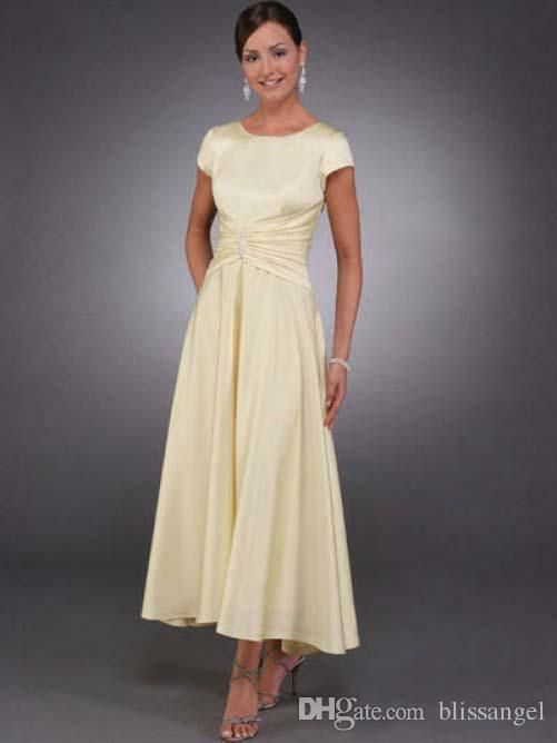 2015 custom made light yellow long mother of the bride for Mother of the bride dresses for outdoor wedding
