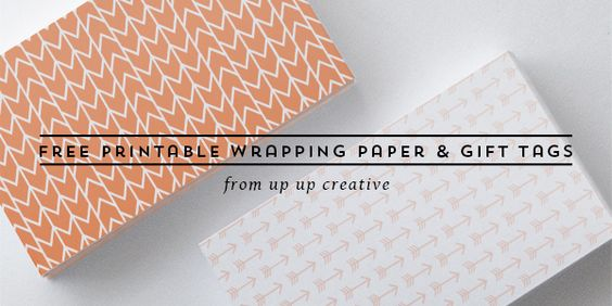 Free Printable Wrapping Paper & Gift Tags, 2013 Edition - up up creative