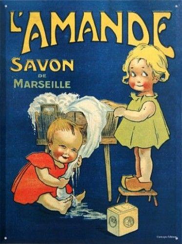 vieille-affiche-savon-marseille-.jpg....réépinglé par Maurie Daboux ❥•*`*•❥
