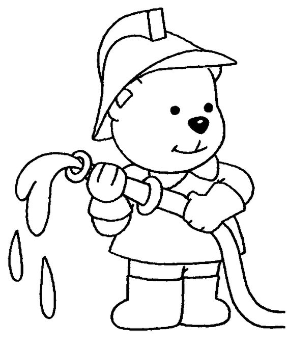 """Firefighter Coloring Pages: Fireman """" Fire Fighter """" Printable"""