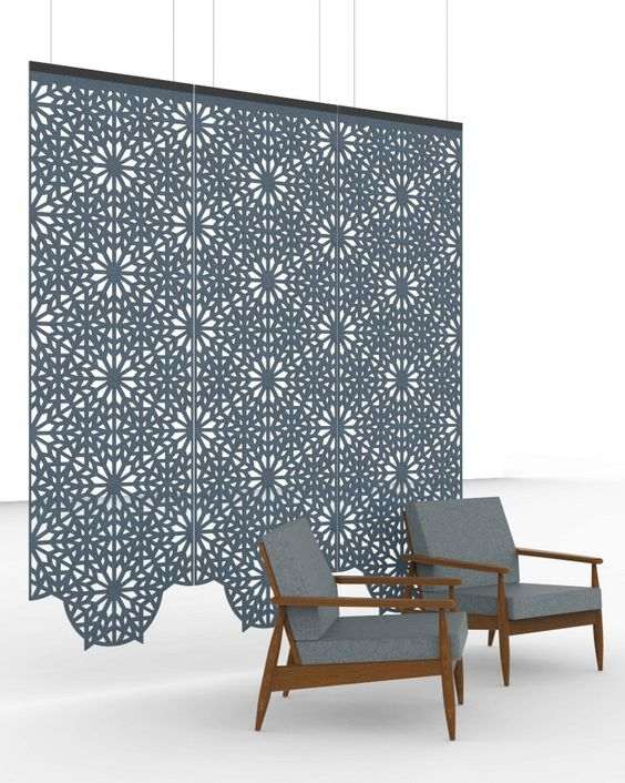 BuzziFalls: Floating And Decorative Walls Offer Artistic Style With  Acoustical Substance   BuzziSpace At ICFF