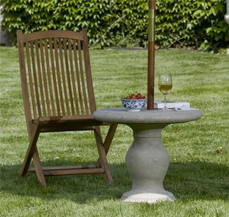 Williamsburg Balustrade Umbrella Table Emerald Outdoor Furniture Furnishings
