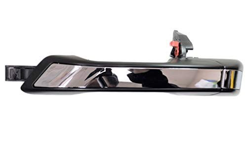 Pt Auto Warehouse Ho 3617mp Rl Exterior Outer Outside Door Handle Primed Black With Chrome Insert Rear Left Driver Side Black Door Handles Garage Door Trim Door Handles