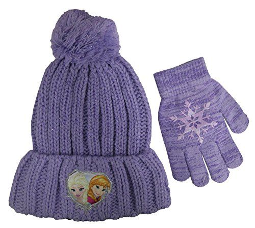 Disney Frozen Knit Beanie Anna and Elsa Hat Cap Girls One Size Fits Most Pink