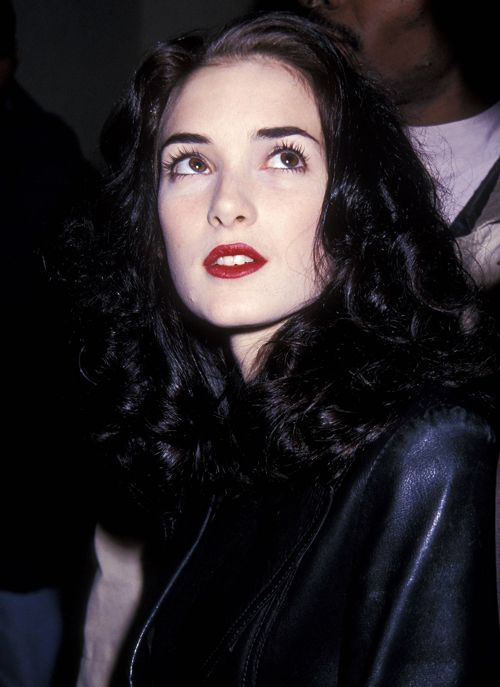 winona ryder april 1992 dark beauty pinterest