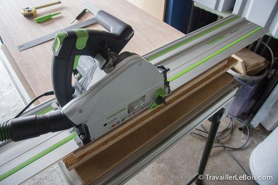 scie plongeante festool ts 55 ebq avec rail de guidage outils pinterest. Black Bedroom Furniture Sets. Home Design Ideas