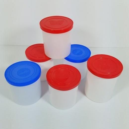 Pillsbury Betty Crocker Duncan Hines 6 Empty Plastic Containers With Lids Storage Arts Crafts White Cani Plastic Containers With Lids White Canisters Glassware