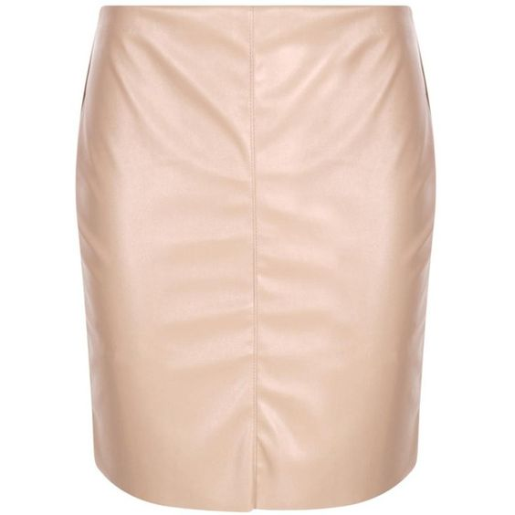 Boohoo Night Sofie Leather Look Mini Skirt ($16) ❤ liked on Polyvore featuring skirts, mini skirts, faux-leather midi skirts, midi skirt, short pink skirt, holiday skirts and pink mini skirt