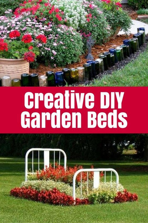 Creative DIY Garden Beds - make even the smallest garden look super special with these garden ideas