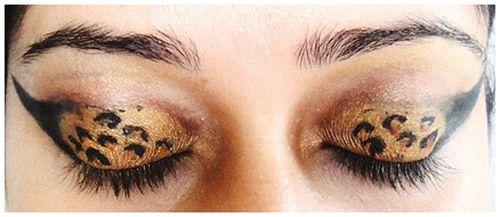 leopardo maquiagem dos olhos