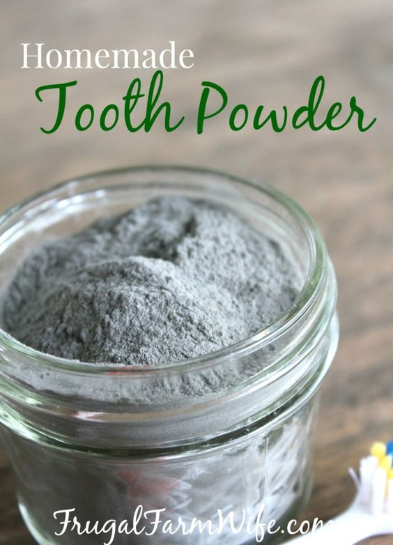 Homemade Tooth Powder. My teeth have never felt cleaner since using this all-natural homemade tooth powder. It's mineral-richness give me hope of finally making my teeth stronger!:
