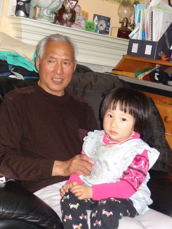 my daughter with her granpa