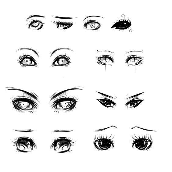 Eyes Ref By *ryky On DeviantART ...If I Could Only Draw