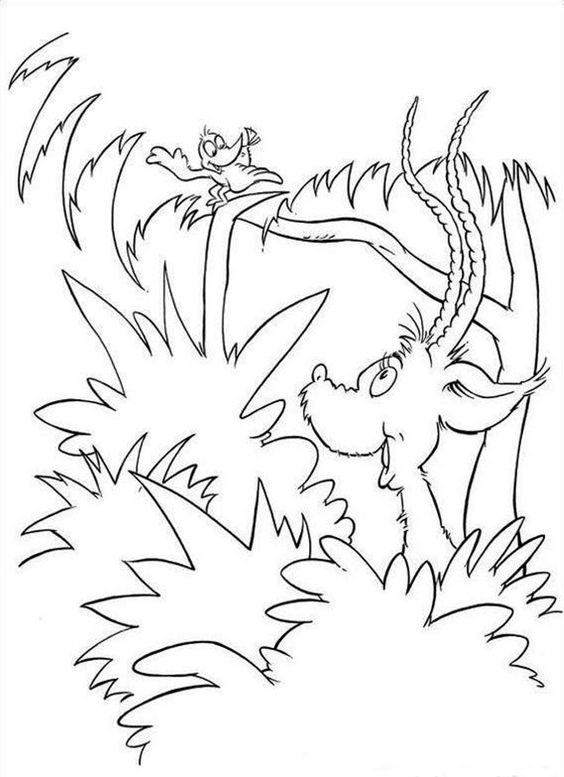 Dr Seuss Coloring Pages Horton Hatches The Egg Page
