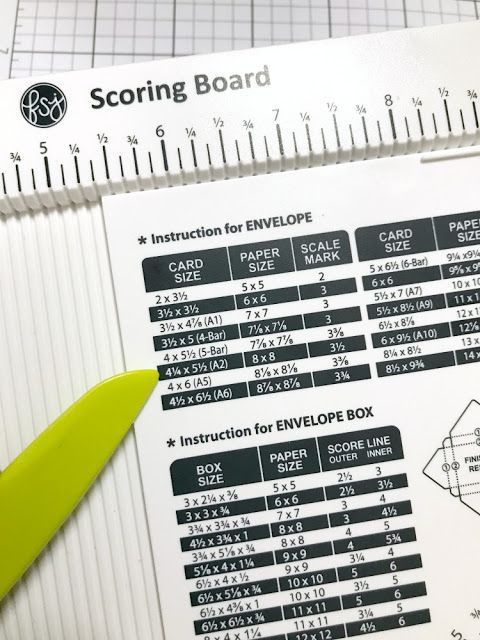 Envelopes With The Fsj Scoring Board