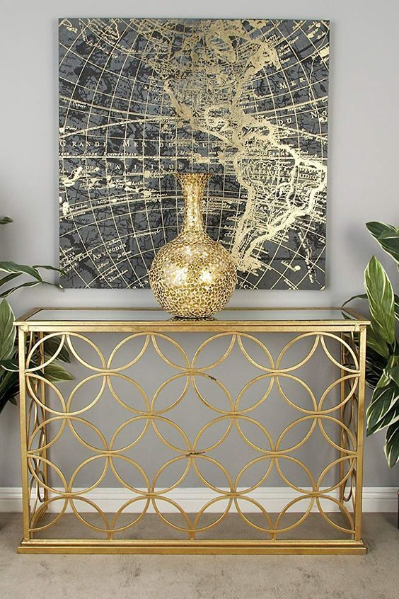10 Modern Console Tables For A Complete Fresh Start Console Table Living Room Home Entrance Decor Glass Console Table Gold metal console table