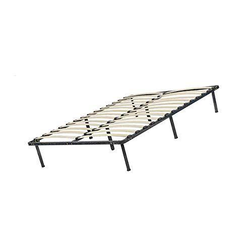 Bed Frame Black Steel Frame With Wood Slat Support King Bed Frame