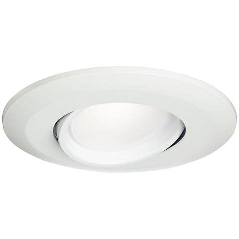 5 6 White Gimbal Retrofit 15w Led Eyeball Downlight 1r723 Lamps Plus Downlights Recessed Lighting Led