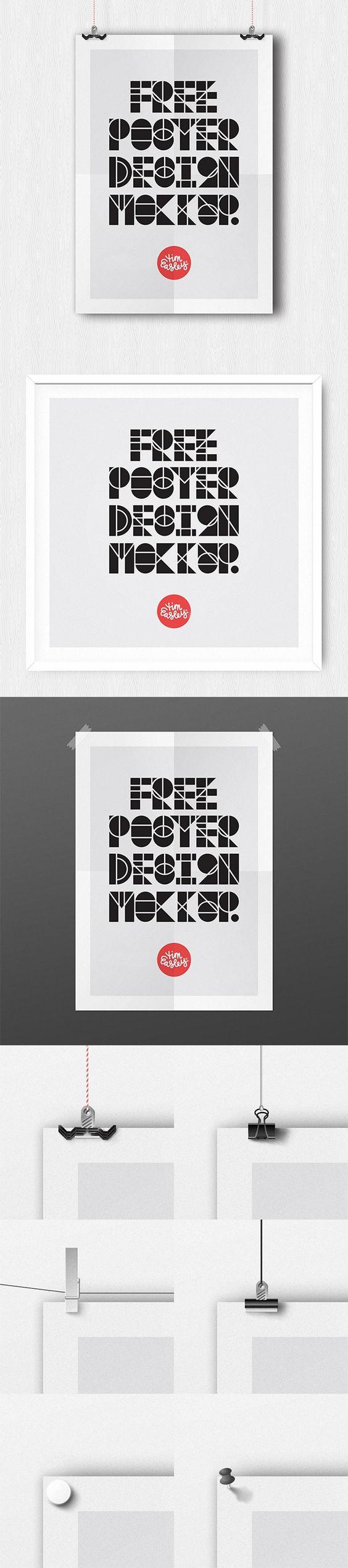 Poster design mockup - Free Poster Design Mockup