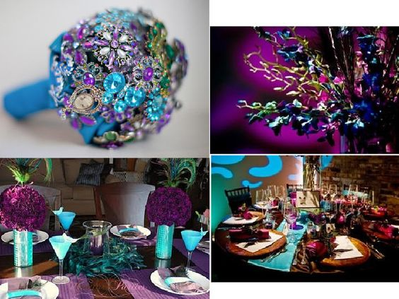 Tiffany Blue And Purple Wedding I Love This Color Scheme It S Number 1 As Of Now Royalty Theme Pinterest