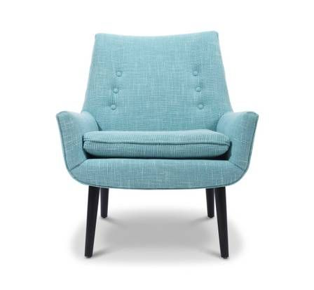 Mrs. Godfrey is one of a set of Mr. and Mrs. chairs at the new Jonathan Adler shop on McKinney Avenue in Dallas.