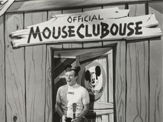The Mickey Mouse Club tv show ..  M-I-C..see you real soon.... K-E-Y-Why? Because we like you... M-O-U-S-E....