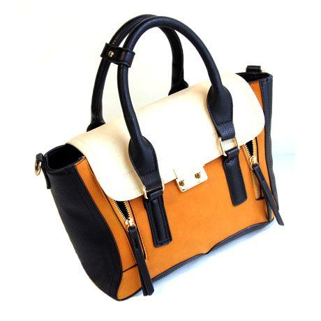 Amazon.com: British Style Mixing Color Bat Shape Hand Bag Shoulder Bag: Clothing